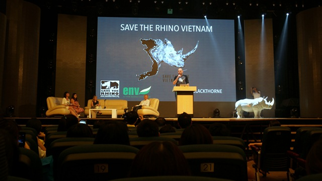 Hollywood film star launches rhino protecting campaign in Vietnam