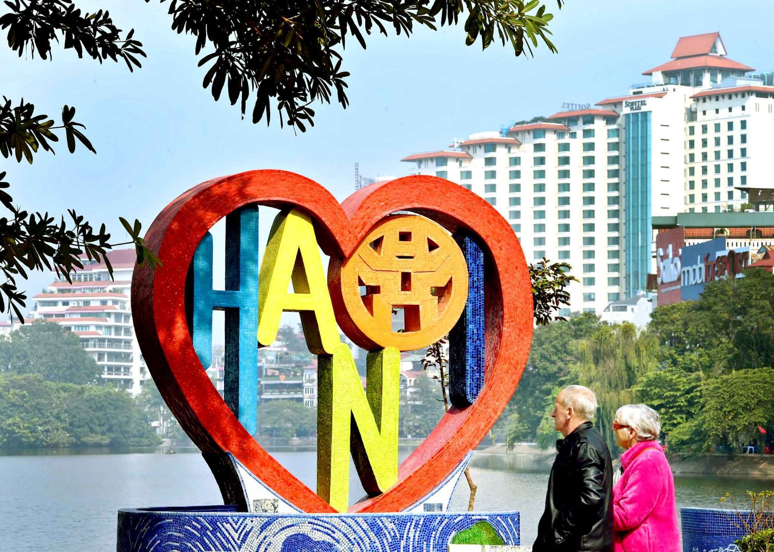 'Love Heart for Hanoi', a heart-shaped sculpture by painter, Nguyen Thu Thuy which won the 10th IDA consolation prize