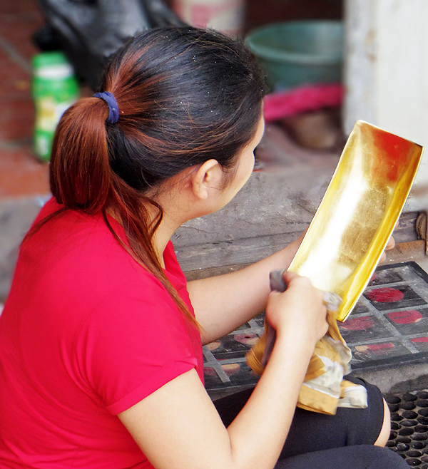 A traditional lacquer craft village of Vietnam
