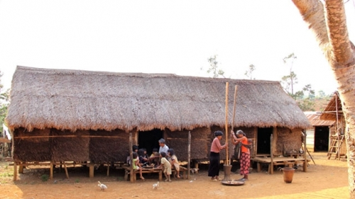Long traditional house of Ma people in Lam Dong province
