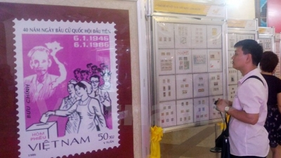 Stamp exhibition celebrates election of NA, People's Councils deputies