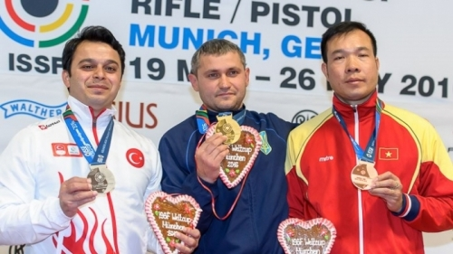 Top shooter wins bronze at World Cup in Munich