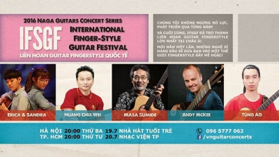 July 18-24: Vietnam International Fingerstyle Guitar Festival 2016 in Hanoi and Ho Chi Minh City