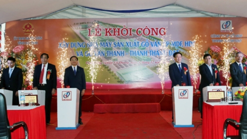 Deputy PM launches construction of plywood factory in Ha Tinh