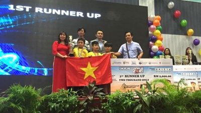 Da Nang students win two first prizes at International Robothon competition