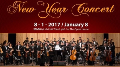 January 2-8, 2017: Gala New Year Concert in HCMC