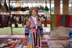 Mong woman preserves and promotes ethnic brocade weaving