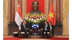 Vietnamese President welcomes Singaporean Prime Minister