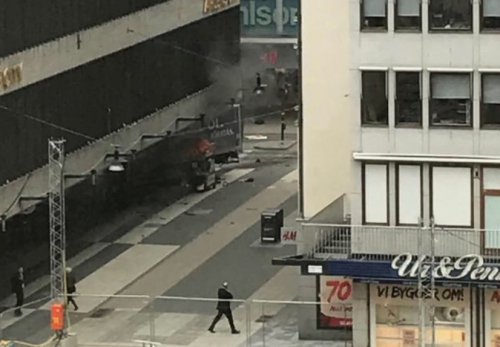 Three killed by truck driven into crowd in Swedish capital
