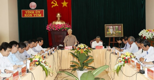 Party chief urges more rapid development in Kon Tum