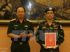 An additional Vietnamese officer joins UN peacekeeping missions