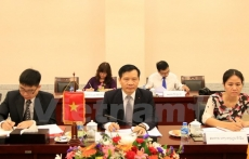 Offices of Vietnam, Laos Party Central Committees reinforce cooperation