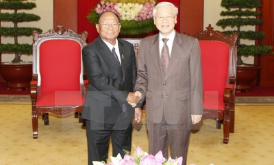 Party head lauds Cambodian NA President's visit