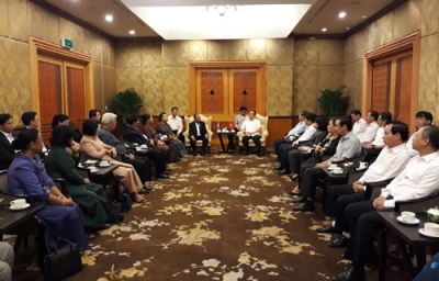 Cambodian top legislator welcomed in Hanoi