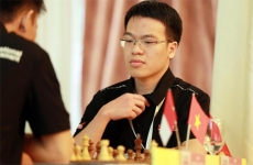 Quang Liem forces China's no. 1 chess player to a tie