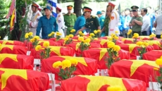 Remains of martyrs reburied in Dong Nai