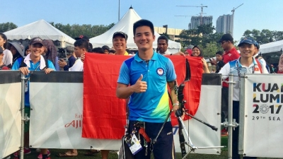 Male archer brings third gold for Vietnam at SEA Games 29