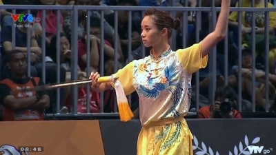 Wushu martial artists bring home first two golds
