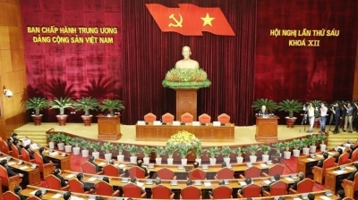October 9-15: Party Central Committee adopts sixth session's resolution