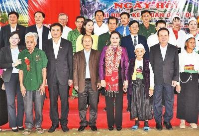 NA Chairwoman attends national great unity festival in Hoa Binh