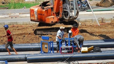 Work begins on largest water supply pipeline in HCMC