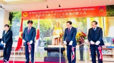 First statue of Ho Chi Minh in Japan presented to Mimasaka city
