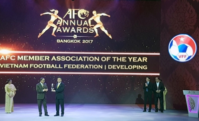 Vietnamese football honoured at AFC Annual Awards