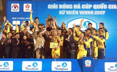 Song Lam Nghe An crowned National Cup 2017 champions