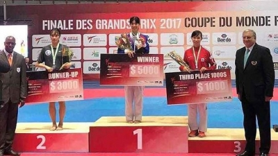 Vietnamese taekwondo artist wins bronze at world-class tournament