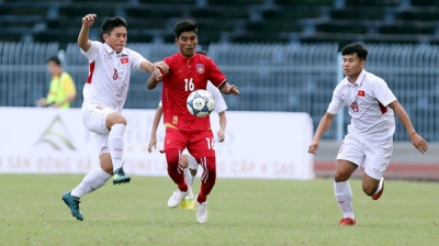 Vietnam U19s tie with Myanmar U21s at int'l football tournament