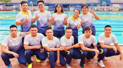 Finswimmers in medals sweep with new record at Asian champs