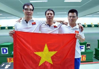 Vietnamese team hit bronze at Asian Airgun meet in Japan