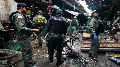 Bomb at pork stall in market in Thailand's south kills three, wounds 22