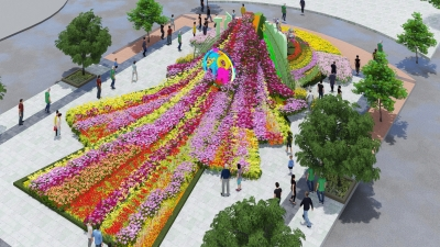 Nguyen Hue Flower Street to bloom for Tet holiday