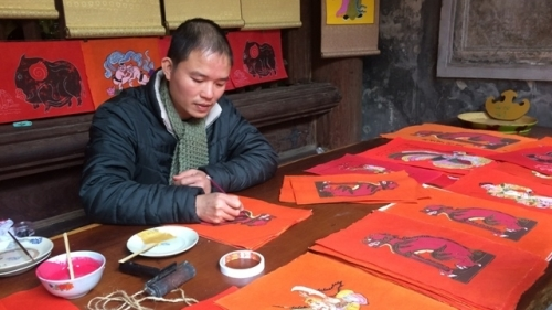 Traditional Tet space on display in Hanoi's Old Quarter