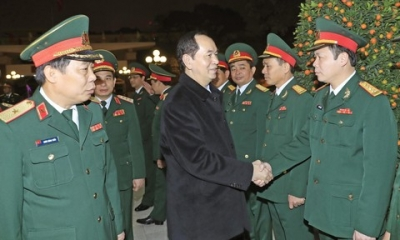 President extends Tet greetings to Truong Sa soldiers