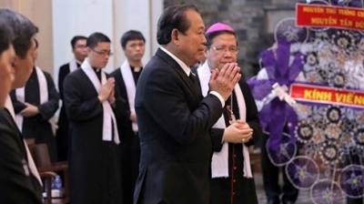 Party, Gov't leaders pay tribute to Archbishop Paul Bui Van Doc