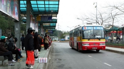 Hanoi officially sells bus ticket stamps online