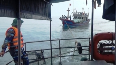 Fishing boat rescued at sea