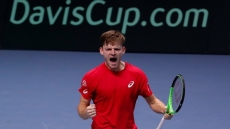 Tennis: Goffin fights back from the brink to beat Granollers