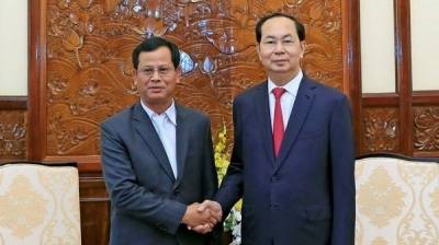 President Tran Dai Quang receives Lao Deputy Minister of Public Security
