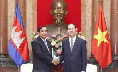 President Tran Dai Quang hosts Cambodian Foreign Minister