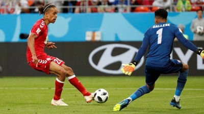 Poulsen powers Denmark to crucial win over Peru