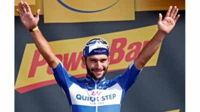 Gaviria fastest again on day four as Van Avermaet stays in yellow