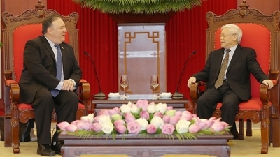July 9 - 15: Party chief receives US Secretary of State