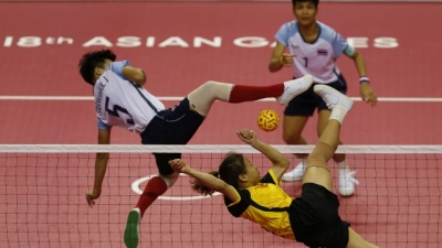 Vietnamese women's sepak takraw win silver medal at 2018 Asian Games