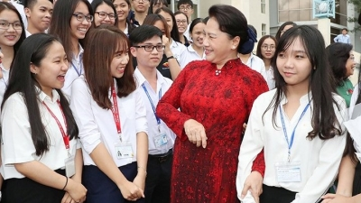 NA Chairwoman works with Ho Chi Minh City-based National University