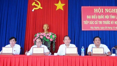 Deputy PM Truong Hoa Binh meets voters in Long An province
