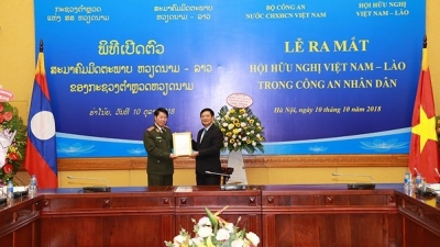 Vietnam-Laos Friendship Association in People's Police Force makes debut