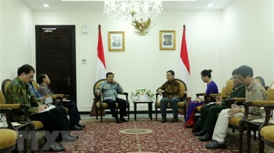 Ambassador to Indonesia welcomed by Vice President Jusuf Kalla